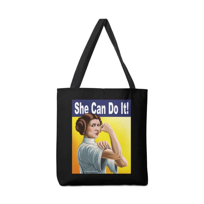 She Can Do It: Leia Accessories Bag by bobtheTEEartist's Artist Shop