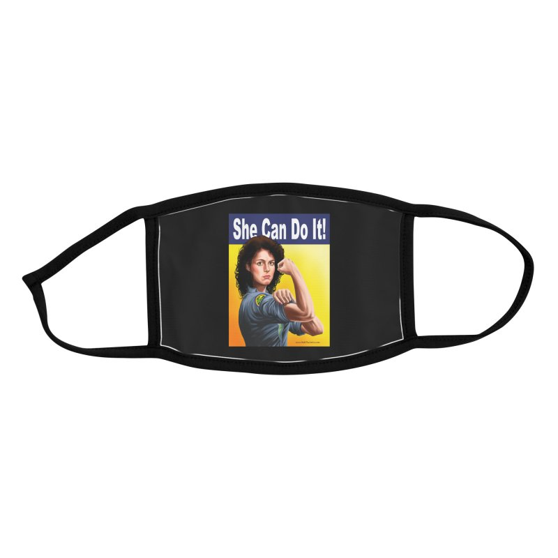 She Can Do It: Ripley Accessories Face Mask by bobtheTEEartist's Artist Shop