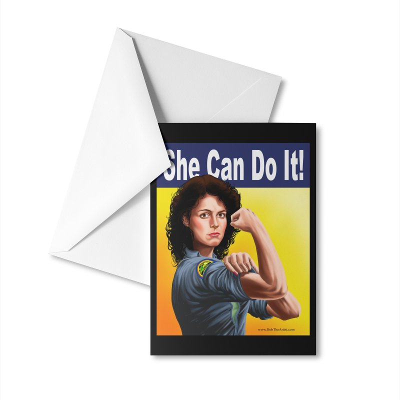 She Can Do It: Ripley Accessories Greeting Card by bobtheTEEartist's Artist Shop