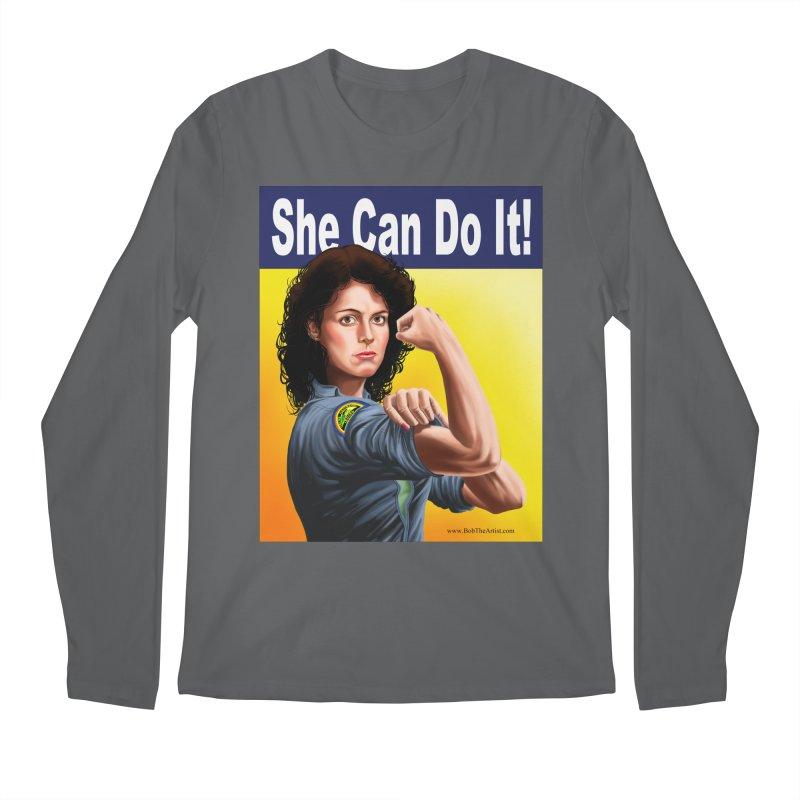 She Can Do It: Ripley Men's Longsleeve T-Shirt by bobtheTEEartist's Artist Shop