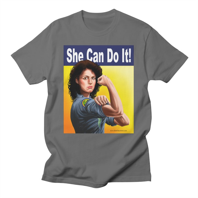 She Can Do It: Ripley Men's T-Shirt by bobtheTEEartist's Artist Shop