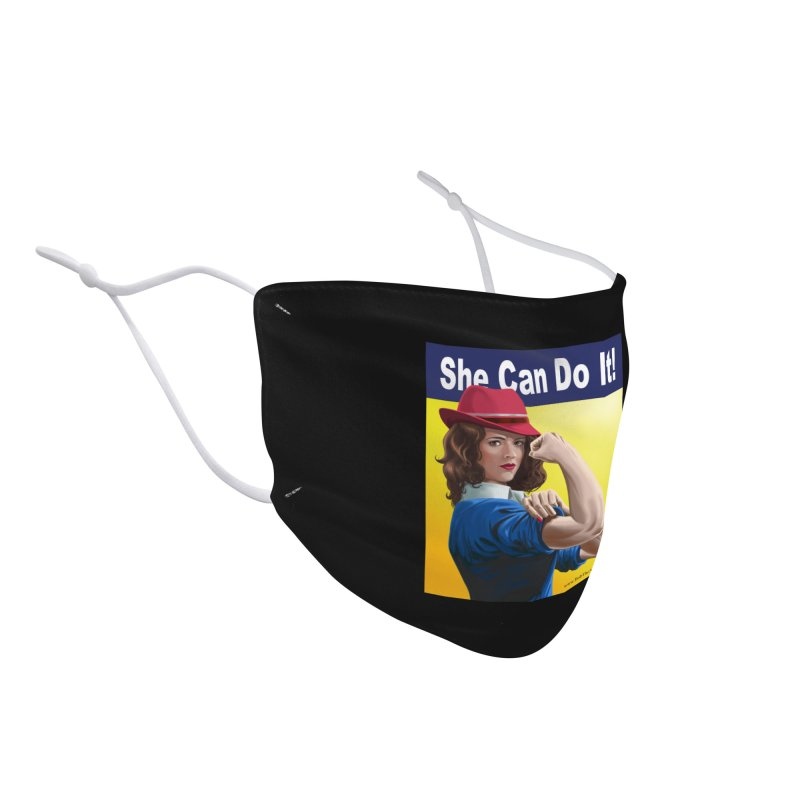 She Can Do It: Agent Carter Accessories Face Mask by bobtheTEEartist's Artist Shop