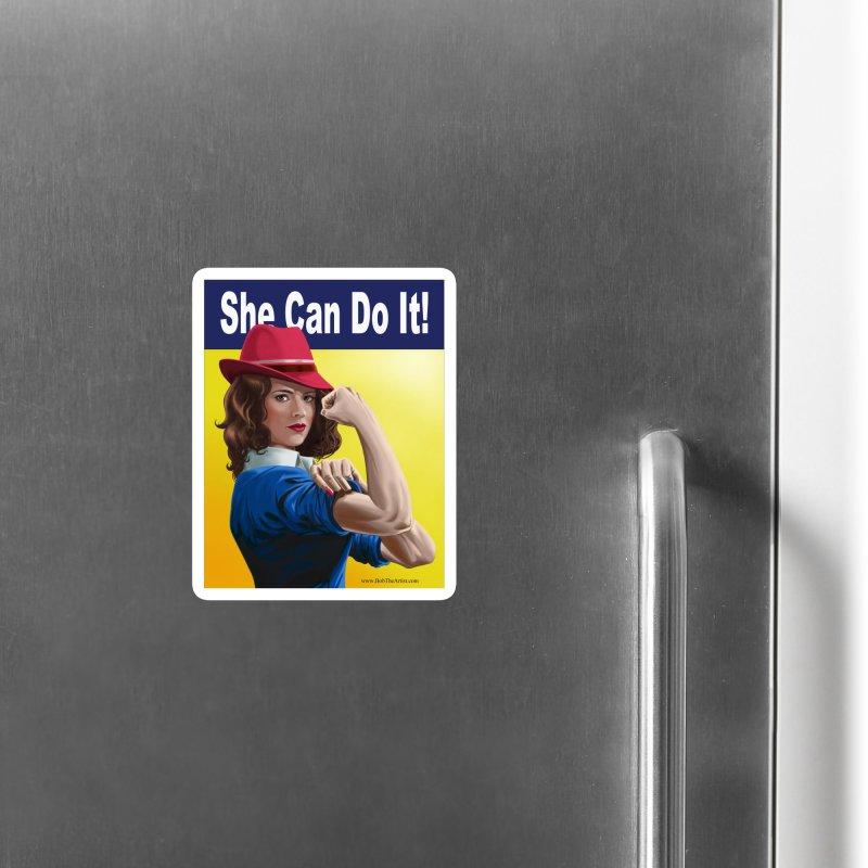 She Can Do It: Agent Carter Accessories Magnet by bobtheTEEartist's Artist Shop