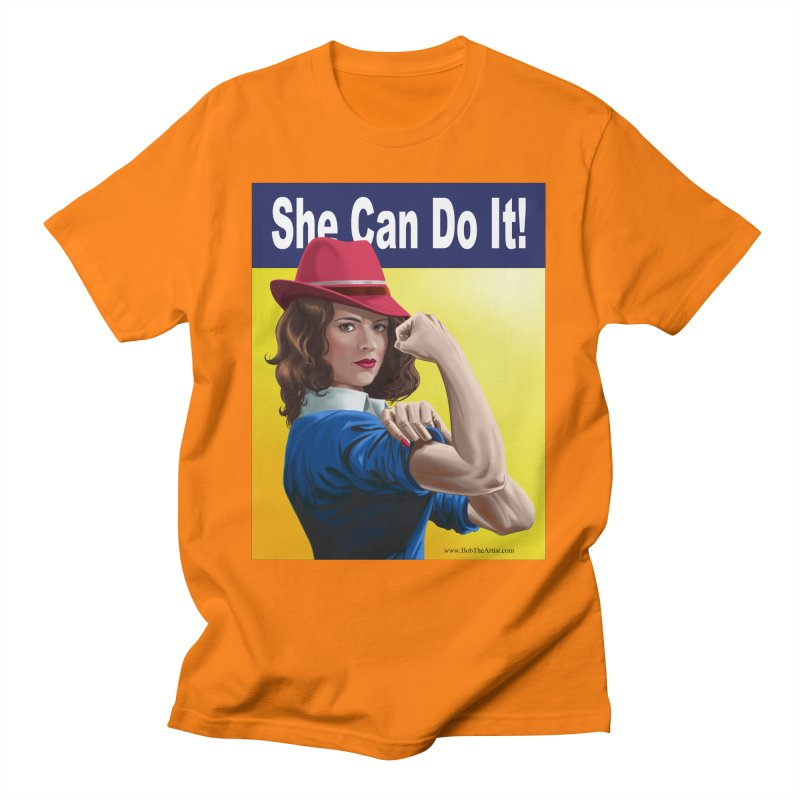She Can Do It: Agent Carter Men's T-Shirt by bobtheTEEartist's Artist Shop