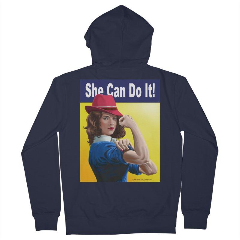 She Can Do It: Agent Carter Women's Zip-Up Hoody by bobtheTEEartist's Artist Shop