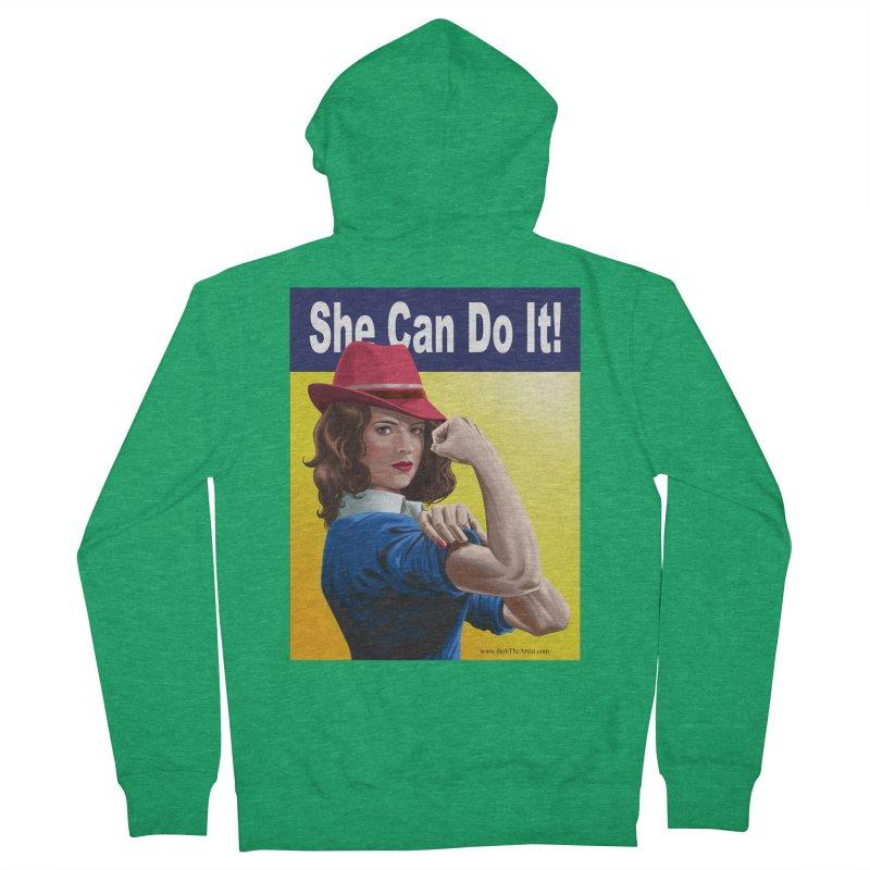 She Can Do It: Agent Carter Men's Zip-Up Hoody by bobtheTEEartist's Artist Shop