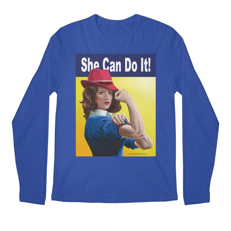 She Can Do It: Agent Carter Men's Longsleeve T-Shirt by bobtheTEEartist's Artist Shop