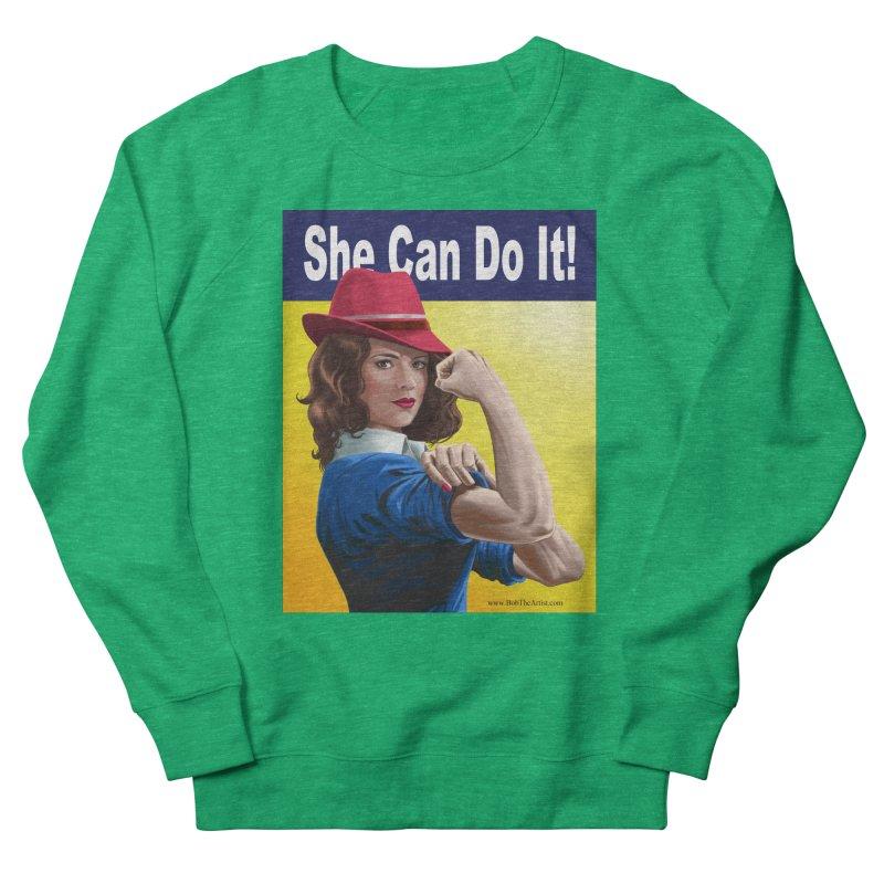 She Can Do It: Agent Carter Women's Sweatshirt by bobtheTEEartist's Artist Shop