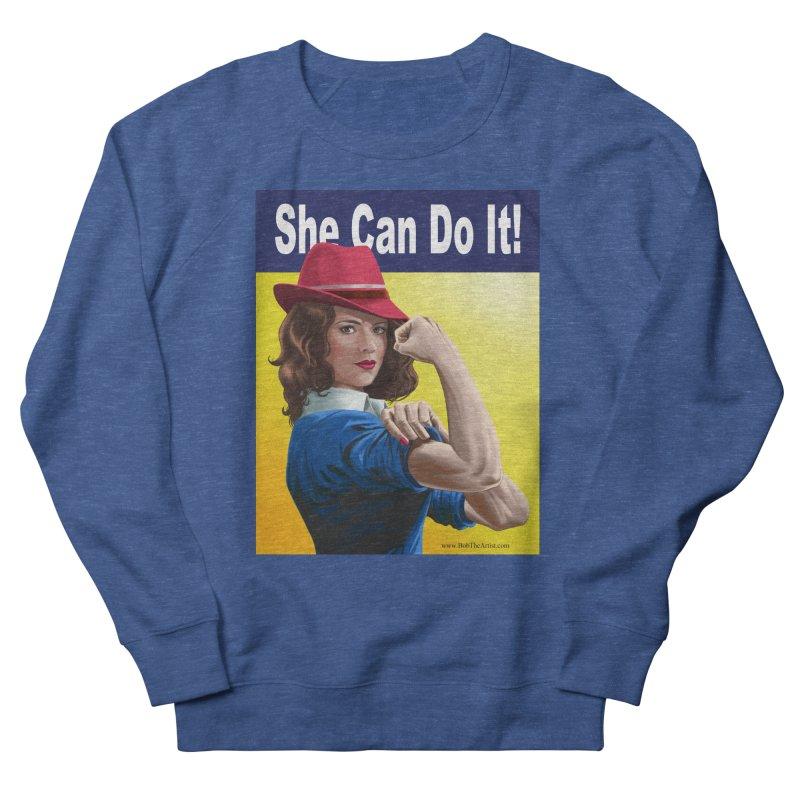 She Can Do It: Agent Carter Men's Sweatshirt by bobtheTEEartist's Artist Shop