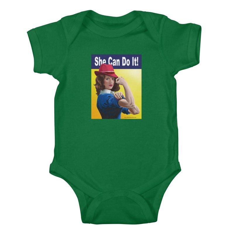 She Can Do It: Agent Carter Kids Baby Bodysuit by bobtheTEEartist's Artist Shop