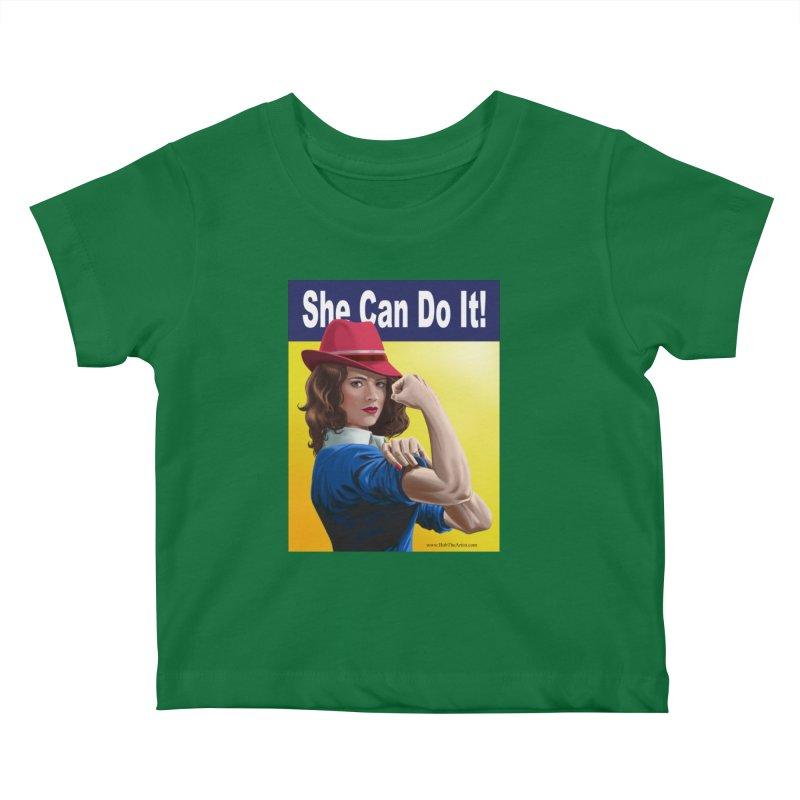 She Can Do It: Agent Carter Kids Baby T-Shirt by bobtheTEEartist's Artist Shop