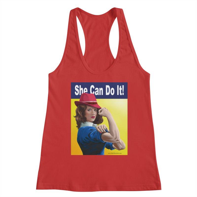 She Can Do It: Agent Carter Women's Tank by bobtheTEEartist's Artist Shop