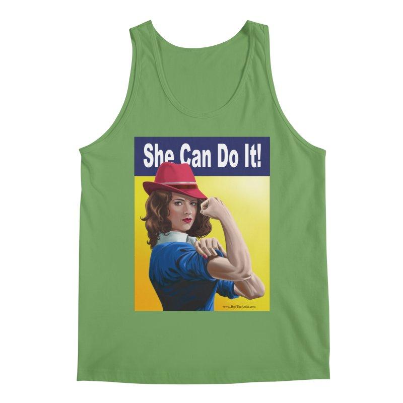 She Can Do It: Agent Carter Men's Tank by bobtheTEEartist's Artist Shop