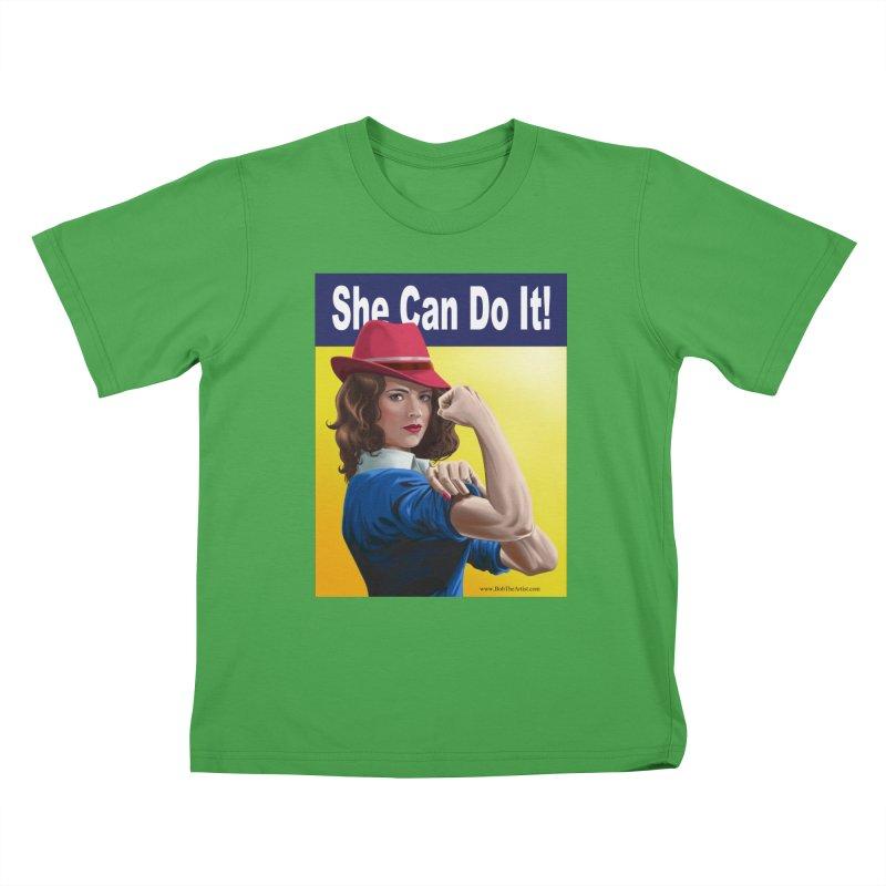 She Can Do It: Agent Carter Kids T-Shirt by bobtheTEEartist's Artist Shop