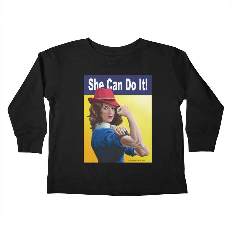 She Can Do It: Agent Carter Kids Toddler Longsleeve T-Shirt by bobtheTEEartist's Artist Shop