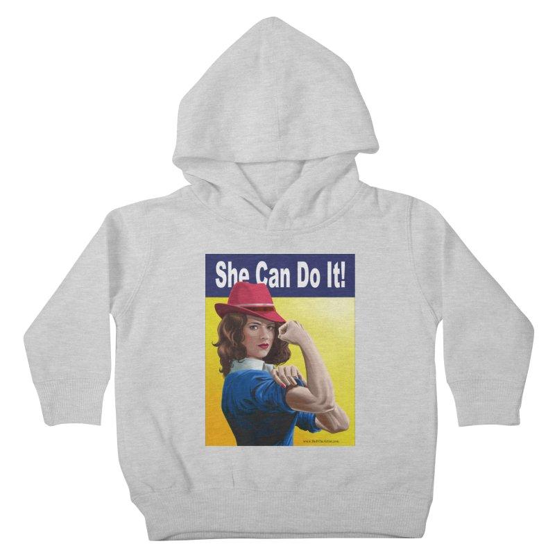 She Can Do It: Agent Carter Kids Toddler Pullover Hoody by bobtheTEEartist's Artist Shop