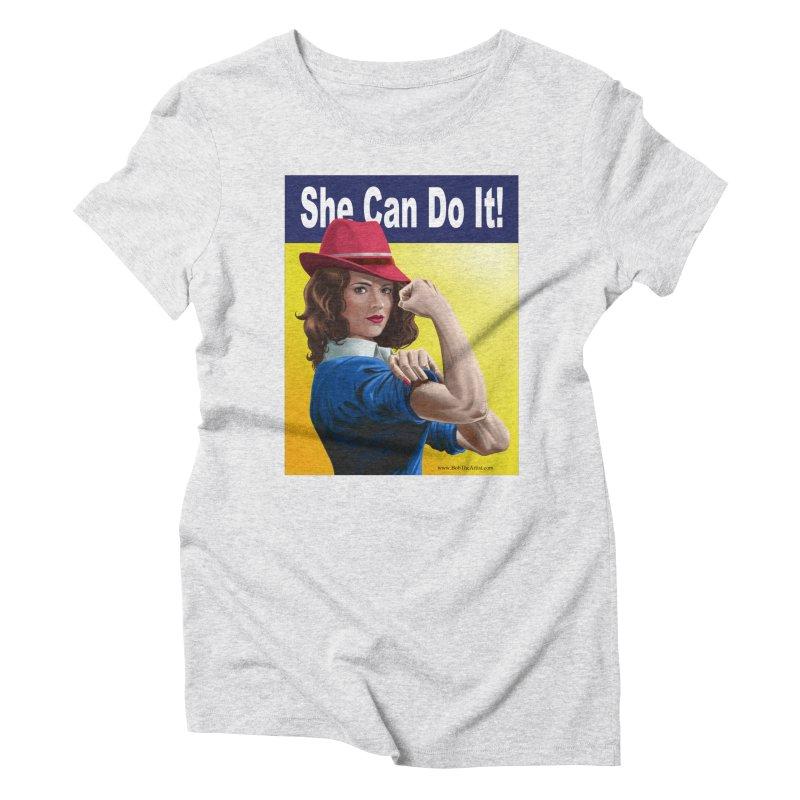 She Can Do It: Agent Carter Women's T-Shirt by bobtheTEEartist's Artist Shop