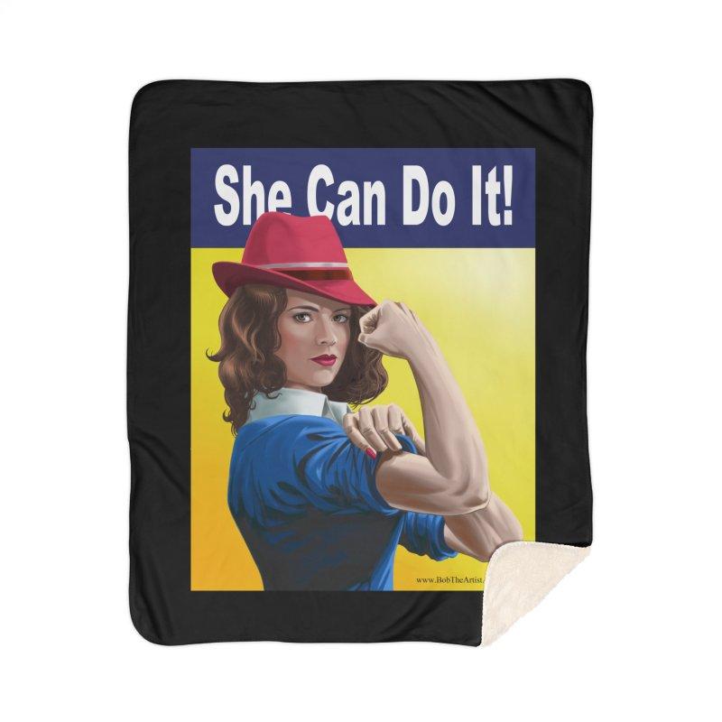 She Can Do It: Agent Carter Home Blanket by bobtheTEEartist's Artist Shop