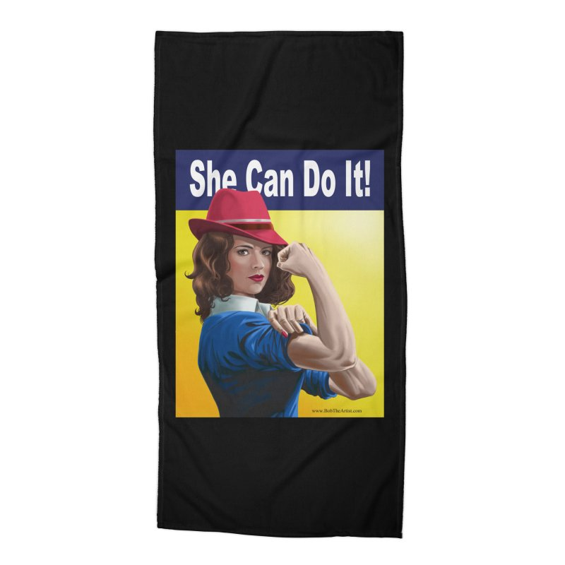 She Can Do It: Agent Carter Accessories Beach Towel by bobtheTEEartist's Artist Shop