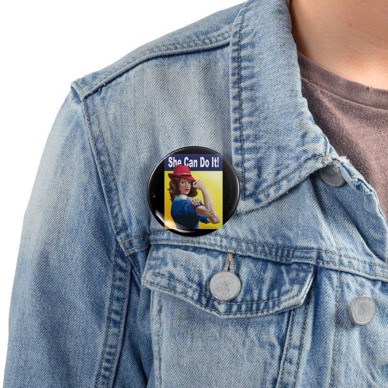 She Can Do It: Agent Carter Accessories Button by bobtheTEEartist's Artist Shop