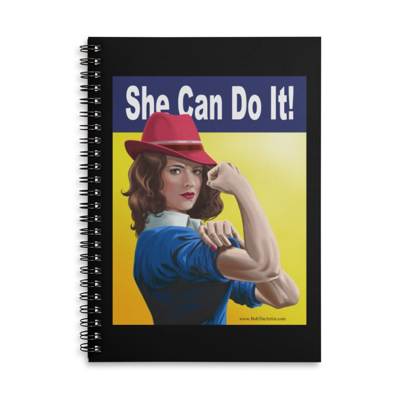 She Can Do It: Agent Carter Accessories Notebook by bobtheTEEartist's Artist Shop