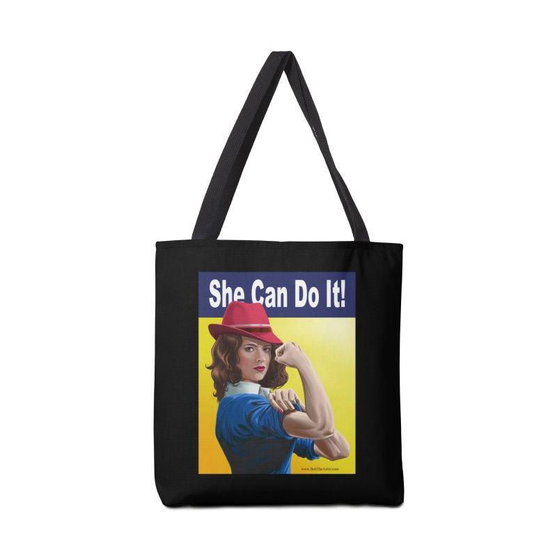 She Can Do It: Agent Carter Accessories Bag by bobtheTEEartist's Artist Shop