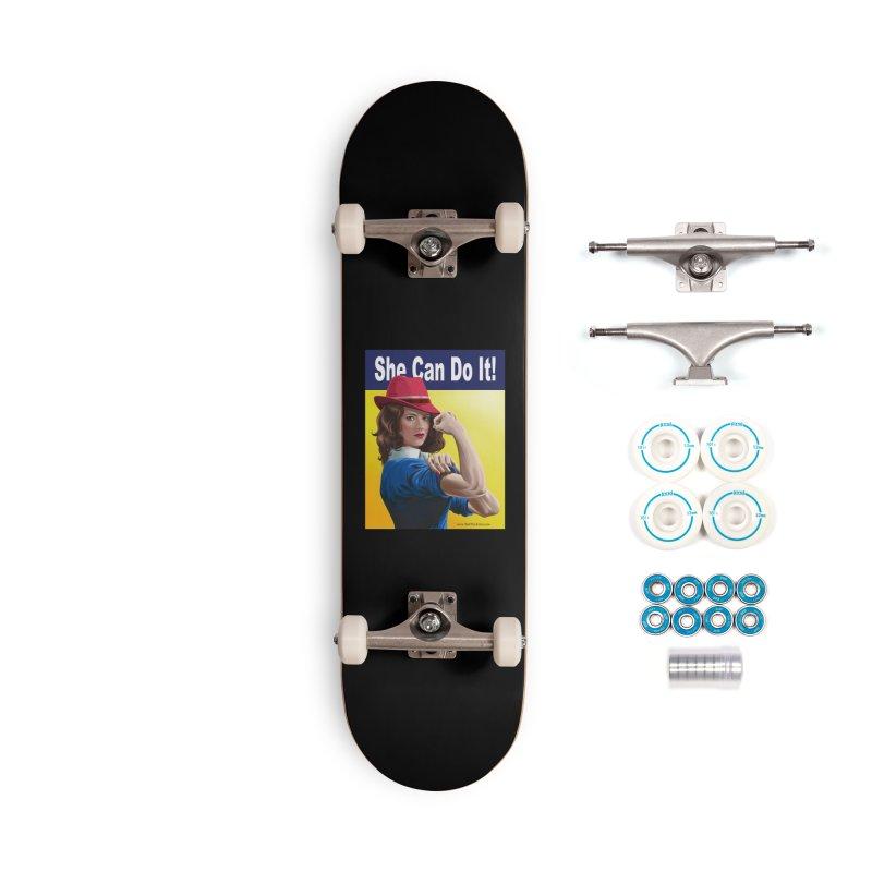 She Can Do It: Agent Carter Accessories Skateboard by bobtheTEEartist's Artist Shop