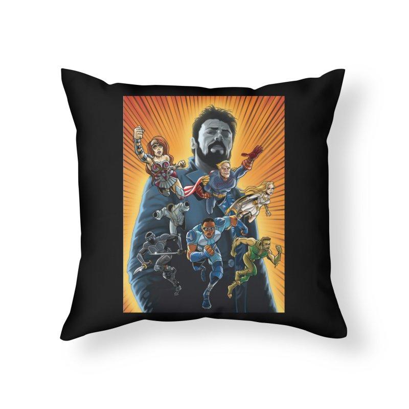 The Seven (plus one) Home Throw Pillow by bobtheTEEartist's Artist Shop