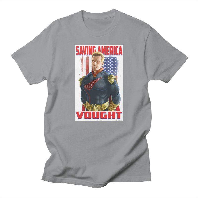 homelander Men's T-Shirt by bobtheTEEartist's Artist Shop