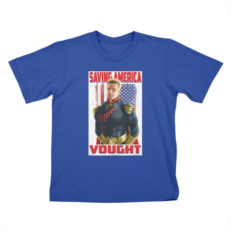 homelander Kids T-Shirt by bobtheTEEartist's Artist Shop