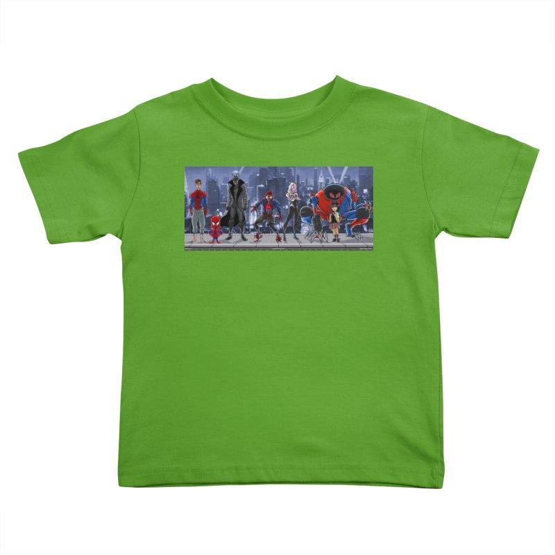 The Spidey gang Kids Toddler T-Shirt by bobtheTEEartist's Artist Shop