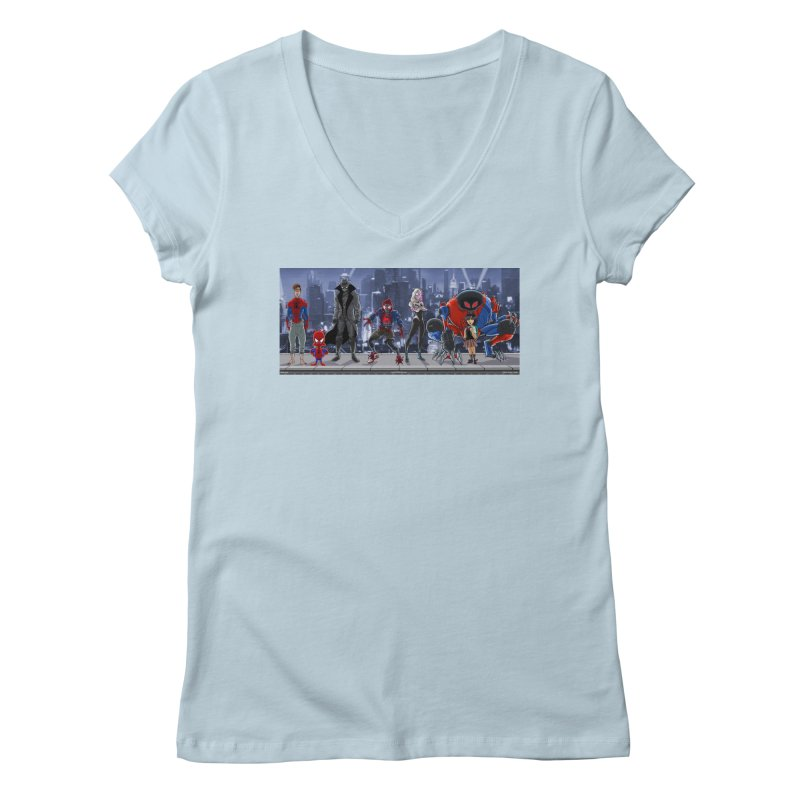 The Spidey gang Women's V-Neck by bobtheTEEartist's Artist Shop