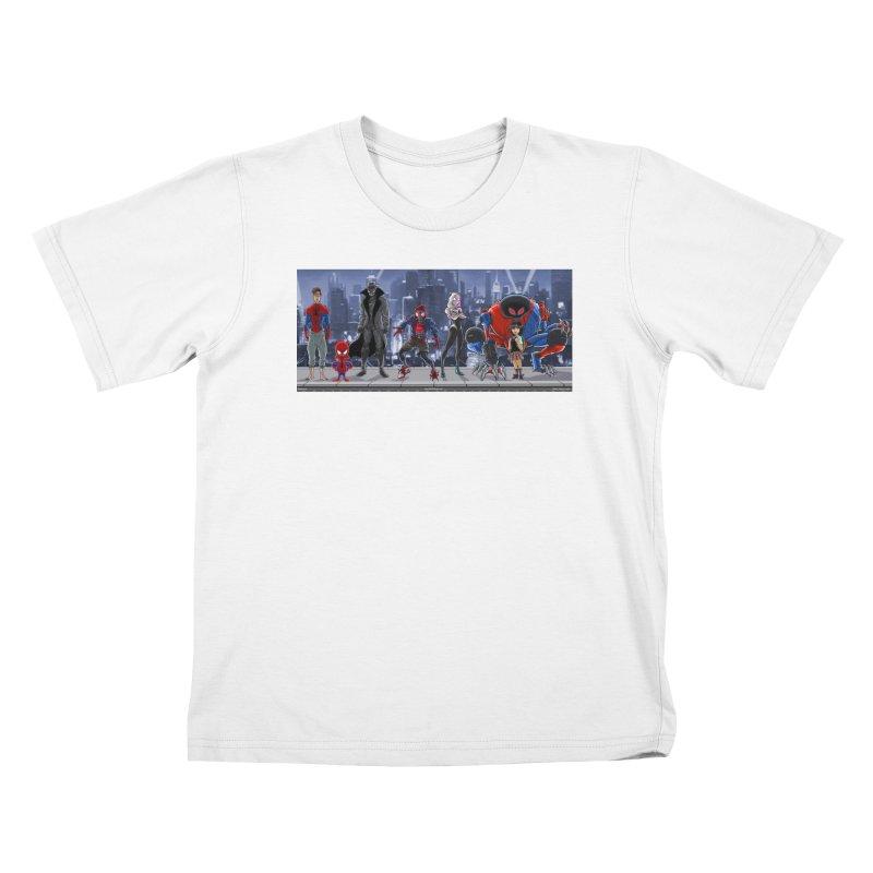 The Spidey gang Kids T-Shirt by bobtheTEEartist's Artist Shop