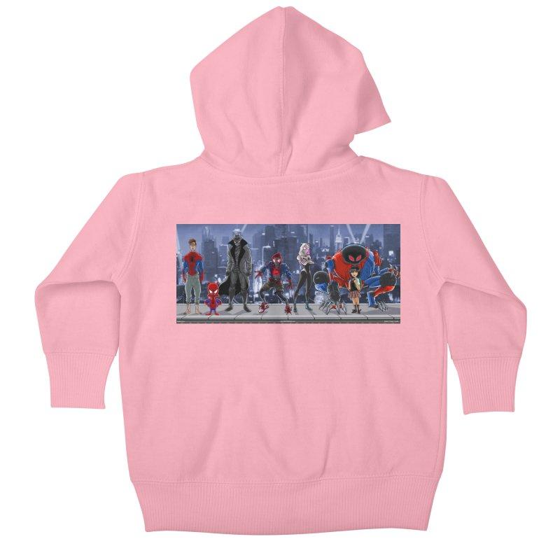 The Spidey gang Kids Baby Zip-Up Hoody by bobtheTEEartist's Artist Shop