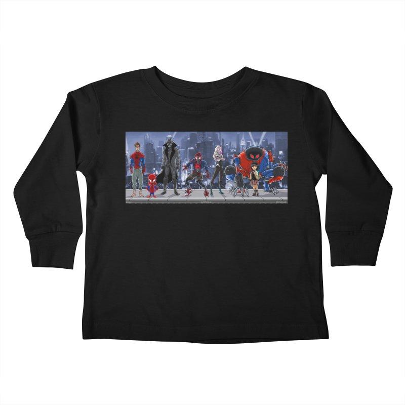 The Spidey gang Kids Toddler Longsleeve T-Shirt by bobtheTEEartist's Artist Shop