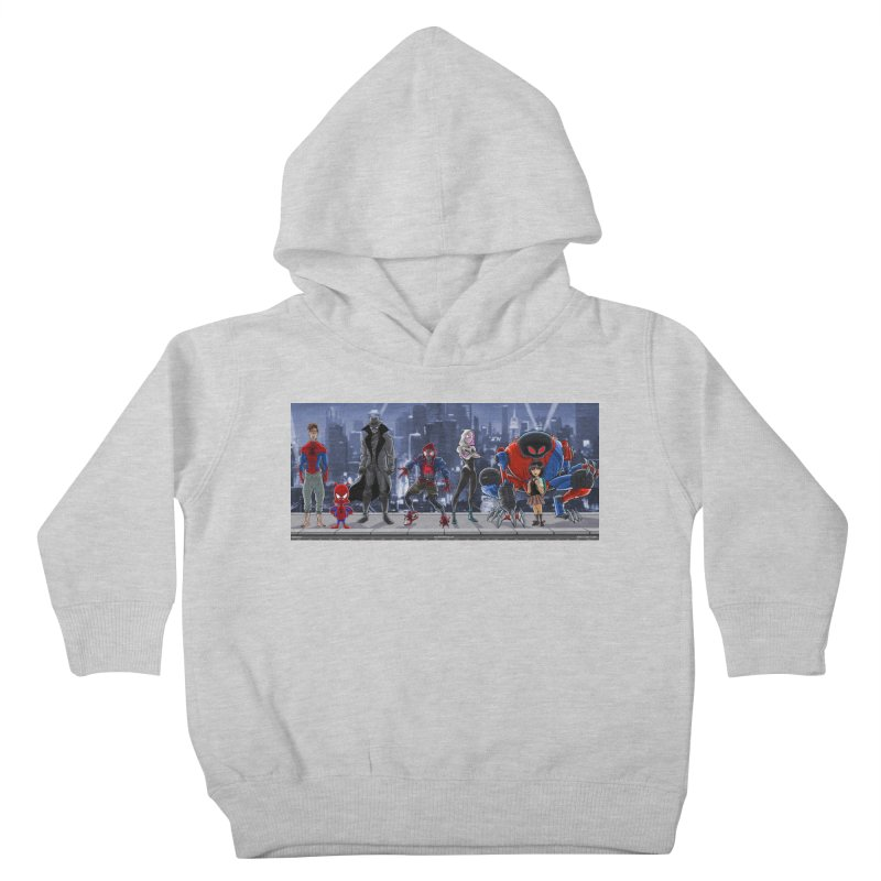 The Spidey gang Kids Toddler Pullover Hoody by bobtheTEEartist's Artist Shop