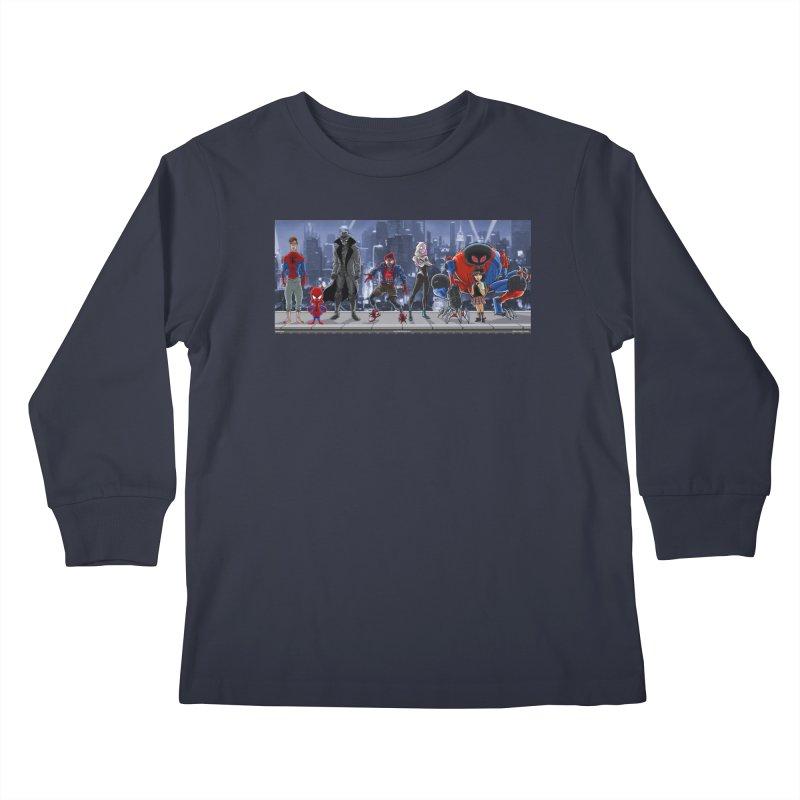 The Spidey gang Kids Longsleeve T-Shirt by bobtheTEEartist's Artist Shop