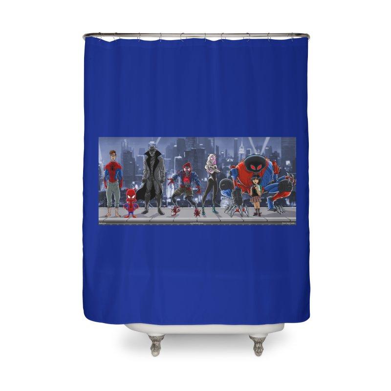 The Spidey gang Home Shower Curtain by bobtheTEEartist's Artist Shop