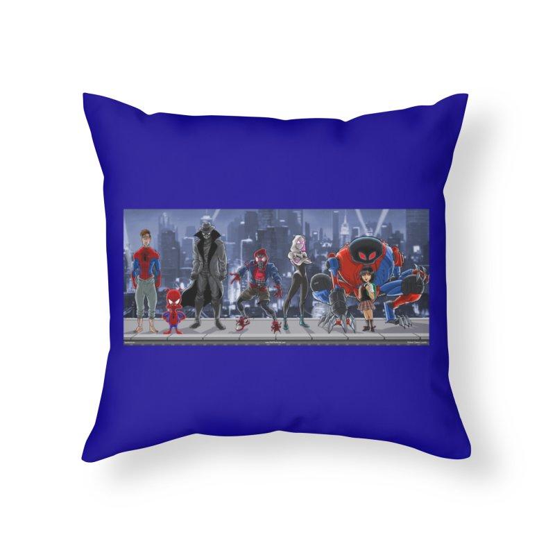 The Spidey gang Home Throw Pillow by bobtheTEEartist's Artist Shop