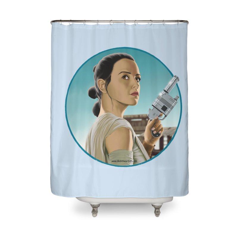 Rey Home Shower Curtain by bobtheTEEartist's Artist Shop