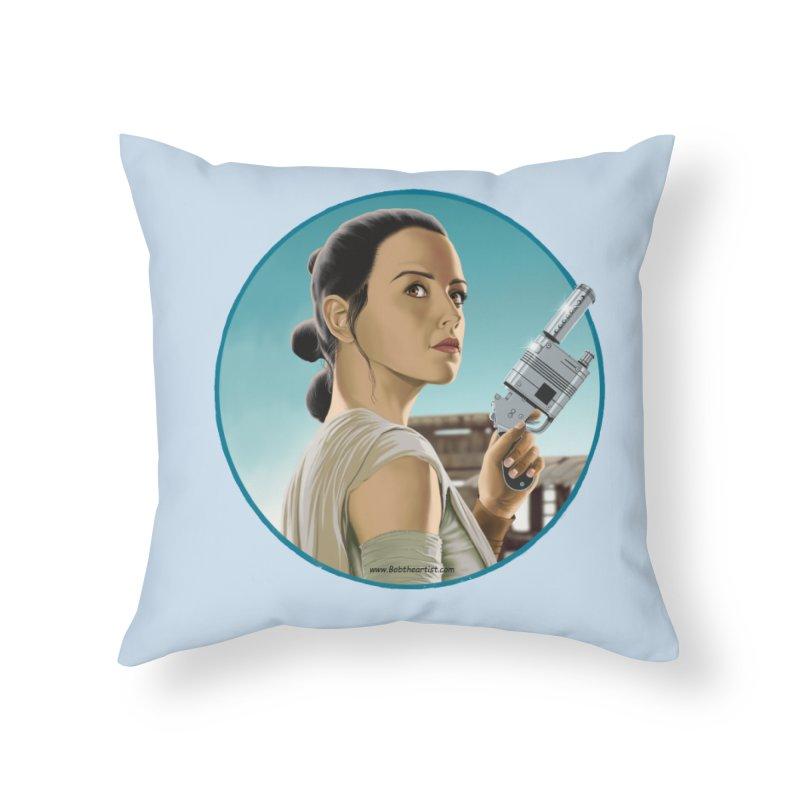 Rey Home Throw Pillow by bobtheTEEartist's Artist Shop