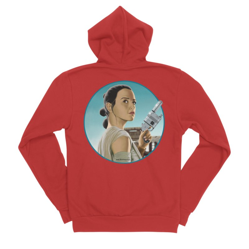 Rey Men's Zip-Up Hoody by bobtheTEEartist's Artist Shop