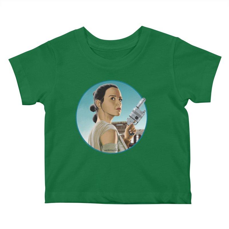 Rey Kids Baby T-Shirt by bobtheTEEartist's Artist Shop