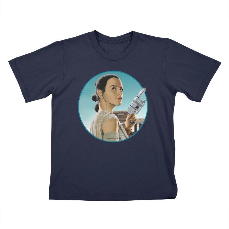 Rey Kids T-Shirt by bobtheTEEartist's Artist Shop