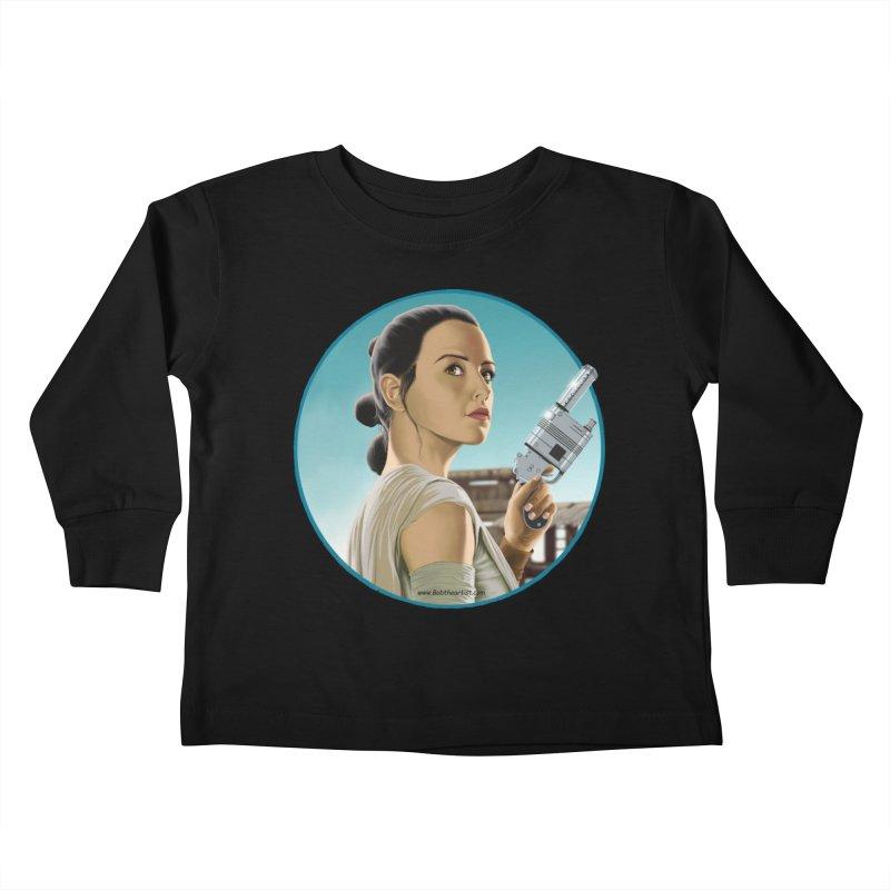 Rey Kids Toddler Longsleeve T-Shirt by bobtheTEEartist's Artist Shop