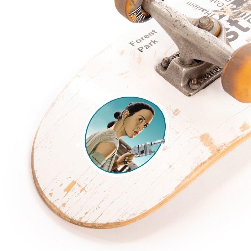 Rey Accessories Sticker by bobtheTEEartist's Artist Shop