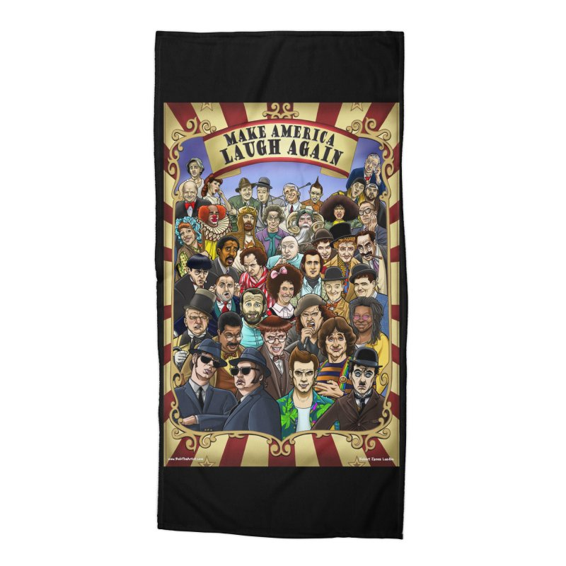 Make America Laugh Again (version 1) Accessories Beach Towel by bobtheTEEartist's Artist Shop