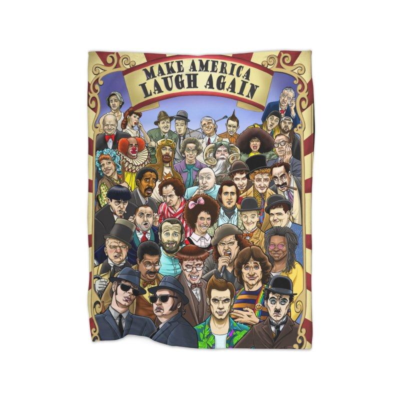 Make America Laugh Again (version 1) Home Blanket by bobtheTEEartist's Artist Shop