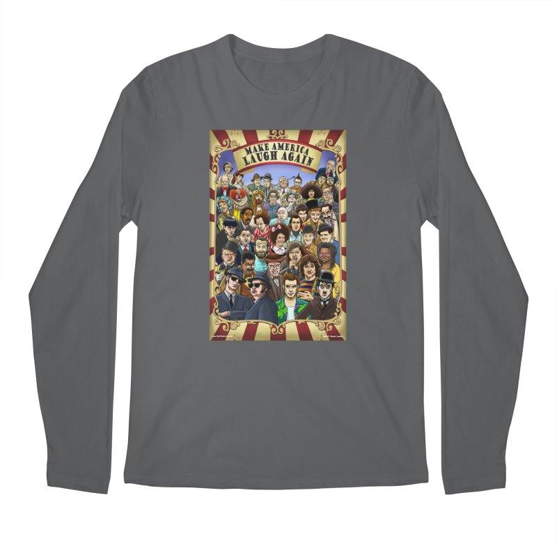 Make America Laugh Again (version 1) Men's Longsleeve T-Shirt by bobtheTEEartist's Artist Shop