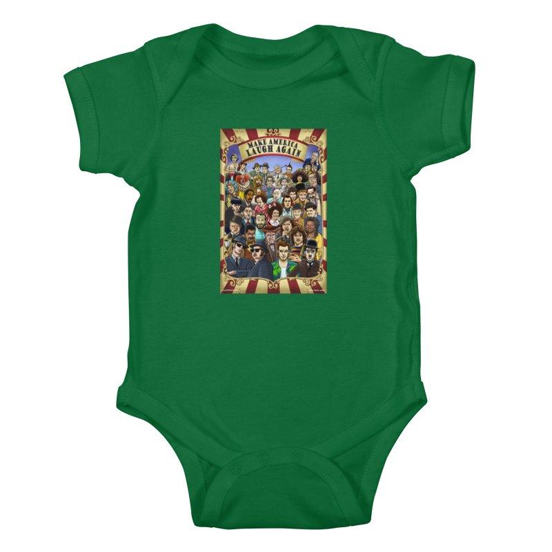 Make America Laugh Again (version 1) Kids Baby Bodysuit by bobtheTEEartist's Artist Shop